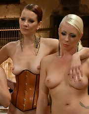 LIVE & PUBLIC slave humiliation, degradation, prostate milking with horny sadistic women