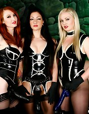 Mistresses Lexi Sindel, Cybill Troy, and Kendra James are the Strap-on All Stars